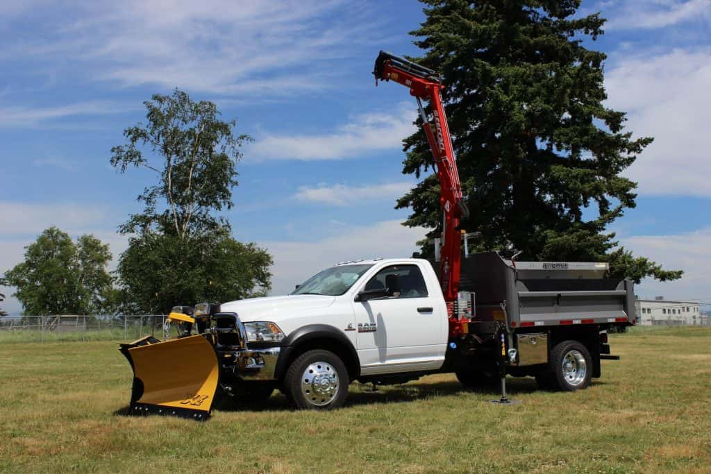 dump truck plow crane