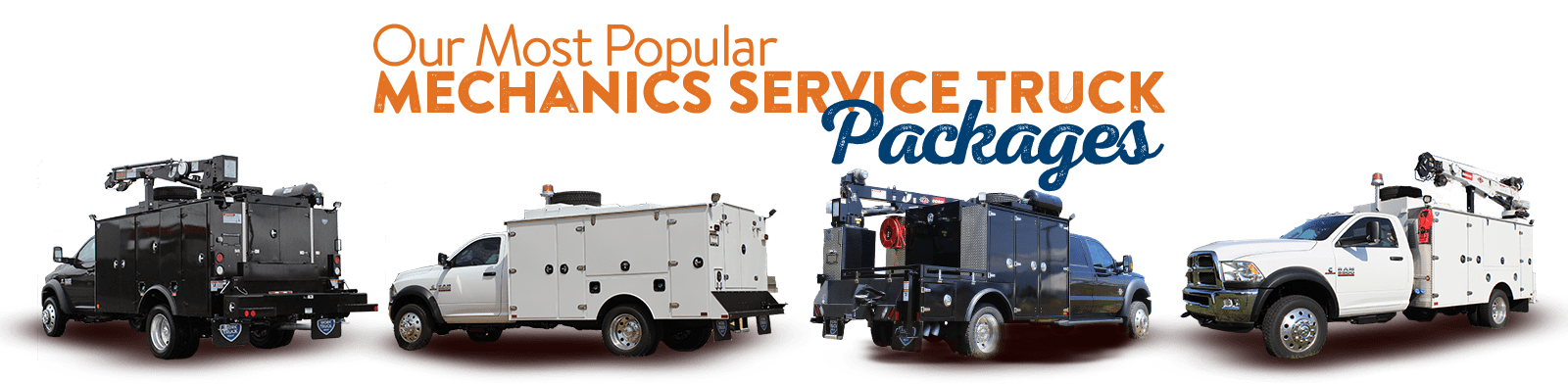 Mechanic truck bodies and mechanic service trucks
