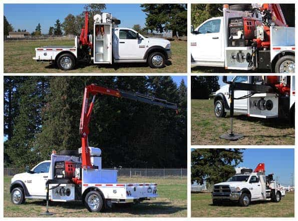 Custom work truck for Mainland Sand and Gravel