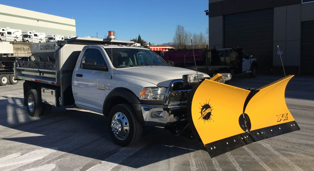 Custom snow and ice truck for business in Newfoundland