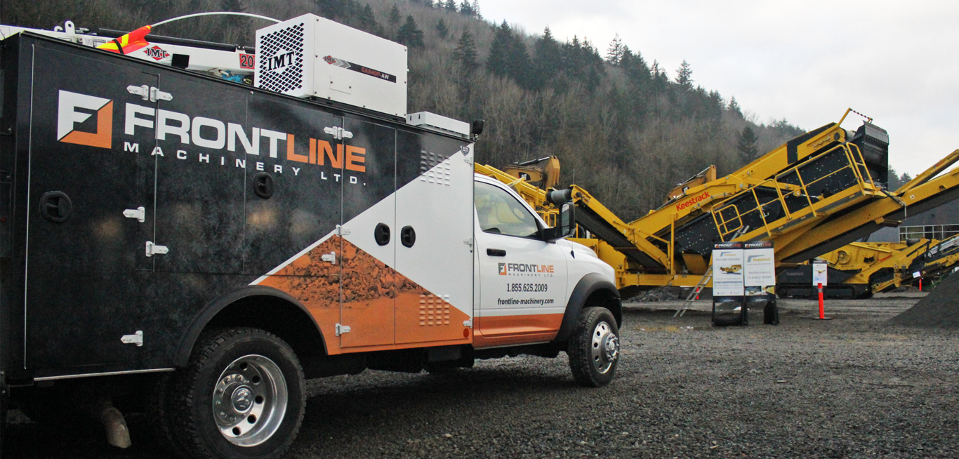 frontline machinery truck on site