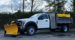 ford f550 dump truck snow plow sander fisher for sale