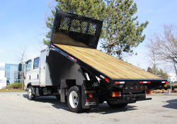 isuzu dumping flat deck truck for sale lease