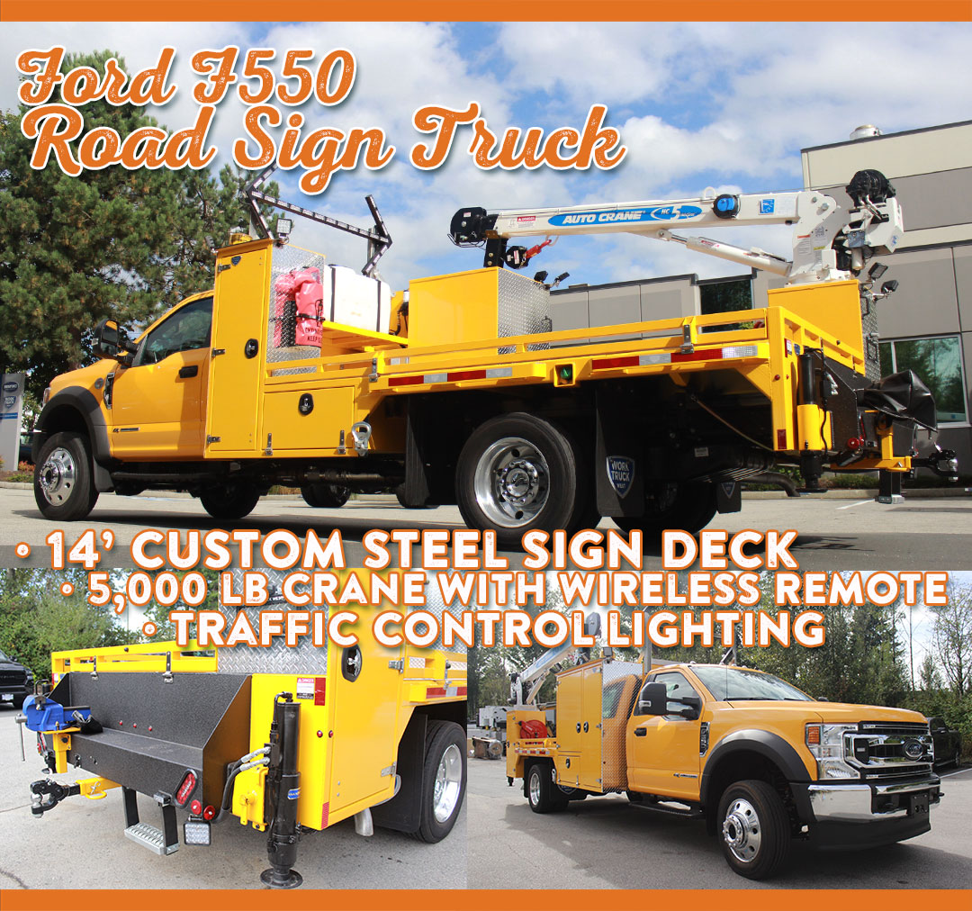 Work Truck West Top-Builds-of-2020-email-content-Yellow-Sign-Truck
